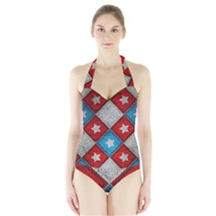 Atar Color Halter Swimsuit