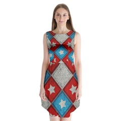 Atar Color Sleeveless Chiffon Dress