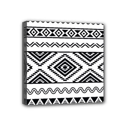 Aztec Pattern Mini Canvas 4  X 4