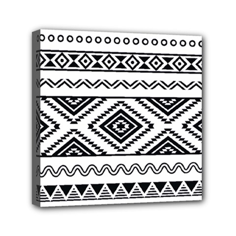 Aztec Pattern Mini Canvas 6  X 6
