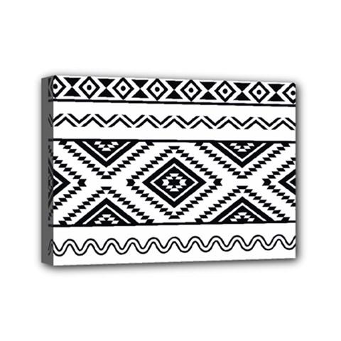 Aztec Pattern Mini Canvas 7  X 5