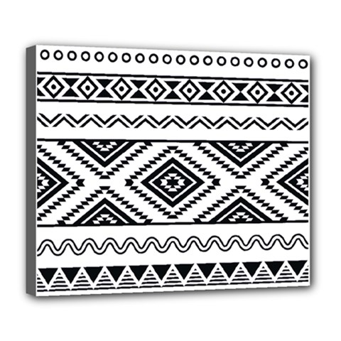 Aztec Pattern Deluxe Canvas 24  X 20