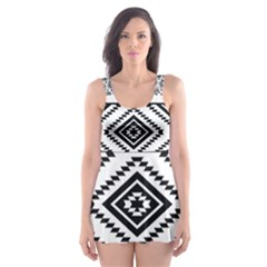 Aztec Pattern Skater Dress Swimsuit
