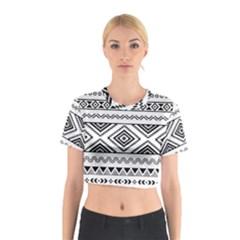 Aztec Pattern Cotton Crop Top