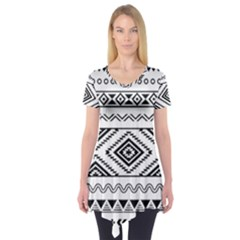 Aztec Pattern Short Sleeve Tunic