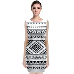 Aztec Pattern Classic Sleeveless Midi Dress