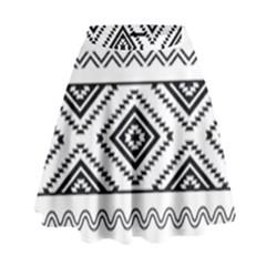 Aztec Pattern High Waist Skirt