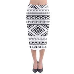 Aztec Pattern Midi Pencil Skirt