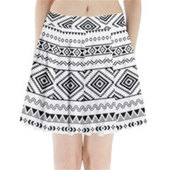 Aztec Pattern Pleated Mini Skirt