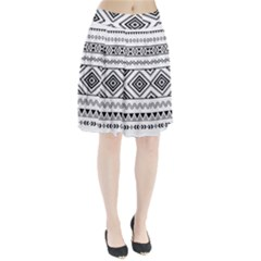 Aztec Pattern Pleated Skirt