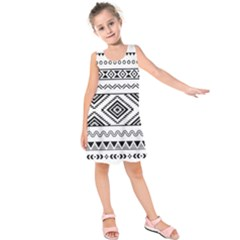 Aztec Pattern Kids  Sleeveless Dress