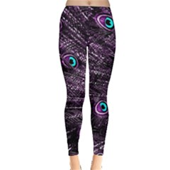 Bird Color Purple Passion Peacock Beautiful Leggings