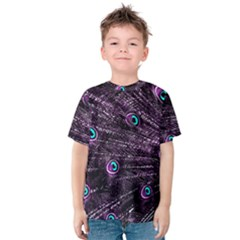 Bird Color Purple Passion Peacock Beautiful Kids  Cotton Tee