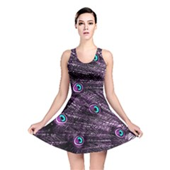 Bird Color Purple Passion Peacock Beautiful Reversible Skater Dress