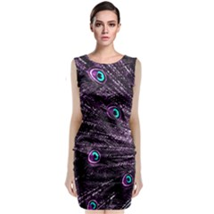 Bird Color Purple Passion Peacock Beautiful Classic Sleeveless Midi Dress