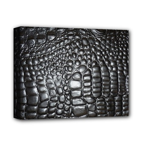 Black Alligator Leather Deluxe Canvas 14  x 11