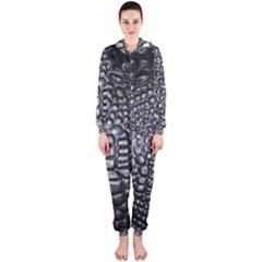 Black Alligator Leather Hooded Jumpsuit (ladies)
