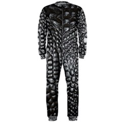 Black Alligator Leather Onepiece Jumpsuit (men)