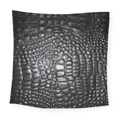 Black Alligator Leather Square Tapestry (large)