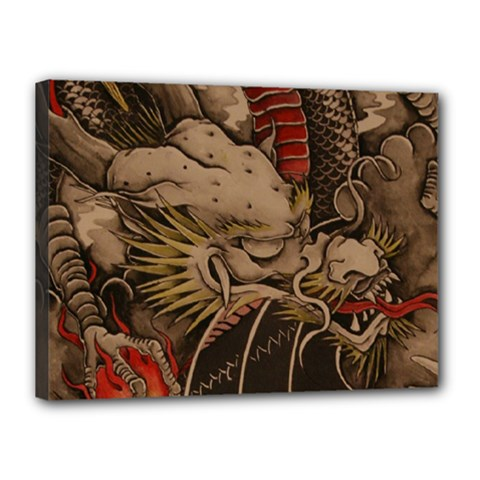 Chinese Dragon Canvas 16  X 12