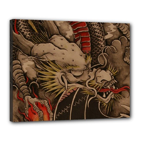 Chinese Dragon Canvas 20  x 16