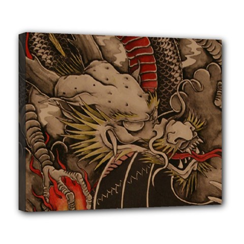Chinese Dragon Deluxe Canvas 24  X 20