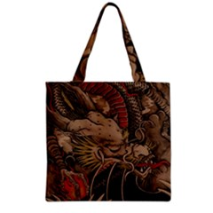 Chinese Dragon Grocery Tote Bag