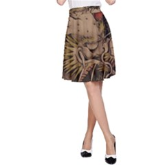 Chinese Dragon A-Line Skirt