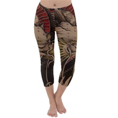 Chinese Dragon Capri Winter Leggings