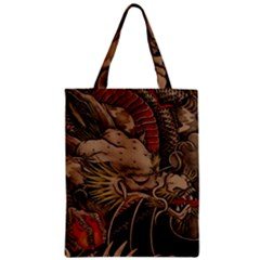 Chinese Dragon Zipper Classic Tote Bag