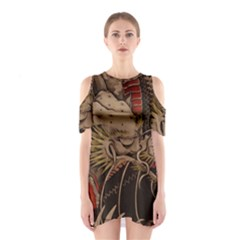 Chinese Dragon Shoulder Cutout One Piece