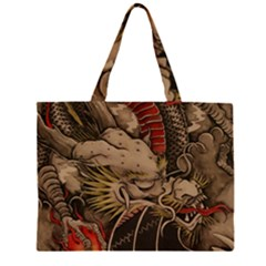Chinese Dragon Zipper Large Tote Bag