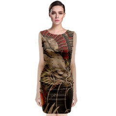 Chinese Dragon Classic Sleeveless Midi Dress