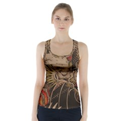 Chinese Dragon Racer Back Sports Top