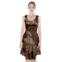 Chinese Dragon Racerback Midi Dress
