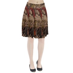 Chinese Dragon Pleated Skirt