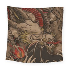 Chinese Dragon Square Tapestry (large)