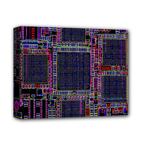 Technology Circuit Board Layout Pattern Deluxe Canvas 14  x 11