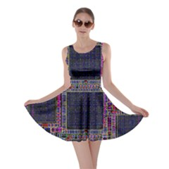 Technology Circuit Board Layout Pattern Skater Dress