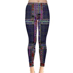 Technology Circuit Board Layout Pattern Leggings