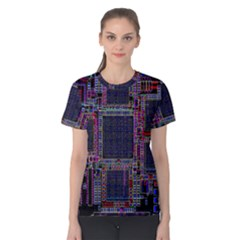 Technology Circuit Board Layout Pattern Women s Cotton Tee
