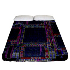Technology Circuit Board Layout Pattern Fitted Sheet (california King Size)