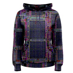 Technology Circuit Board Layout Pattern Women s Pullover Hoodie