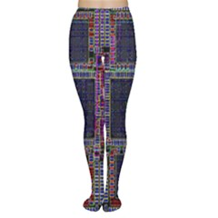 Technology Circuit Board Layout Pattern Women s Tights