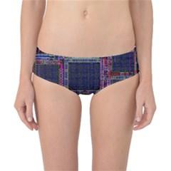 Technology Circuit Board Layout Pattern Classic Bikini Bottoms