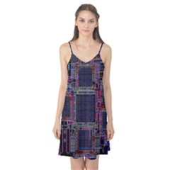 Technology Circuit Board Layout Pattern Camis Nightgown
