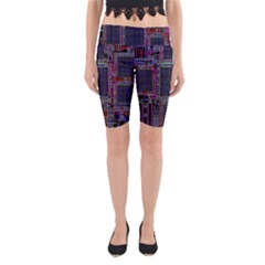 Technology Circuit Board Layout Pattern Yoga Cropped Leggings