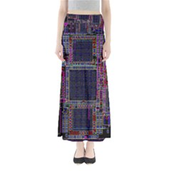 Technology Circuit Board Layout Pattern Maxi Skirts