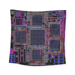 Technology Circuit Board Layout Pattern Square Tapestry (small)