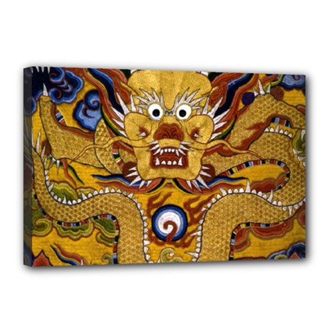 Chinese Dragon Pattern Canvas 18  X 12